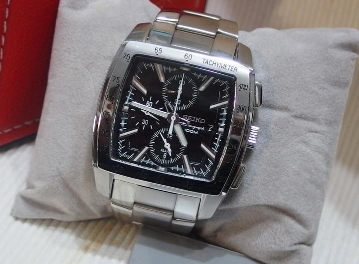 Seiko 7t62-0hy0 稀有超正大錶, 三眼計時鬧鈴, 近新品.
