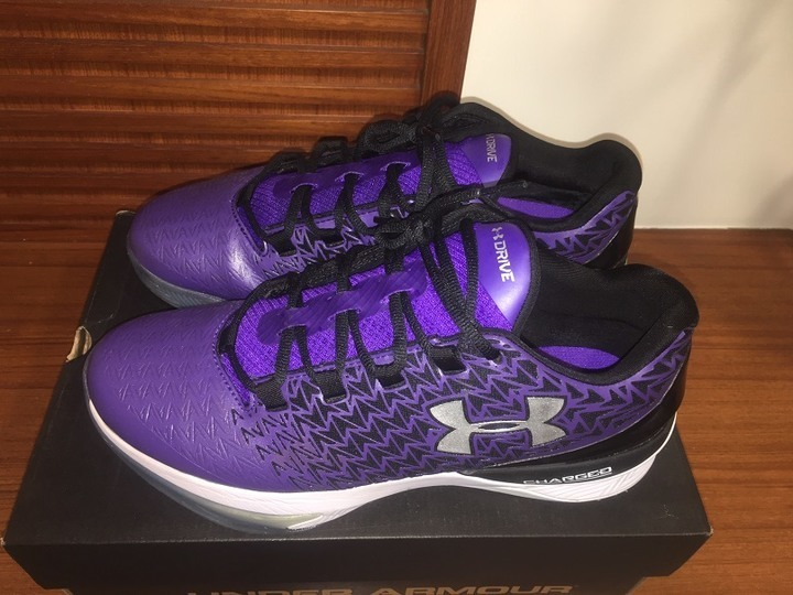 UA UNDER ARMOUR Clutch Fit Drive3 1274422-754 黑紫 籃球鞋 US10