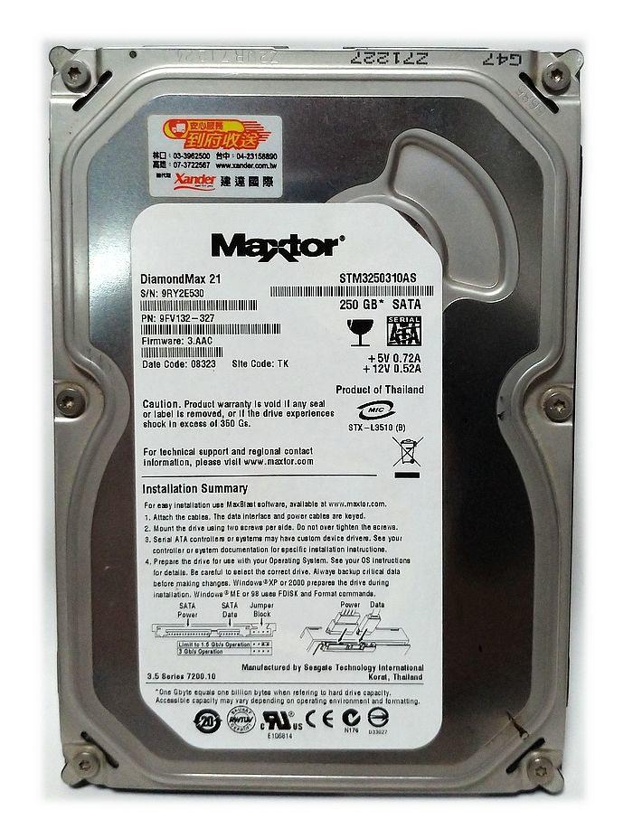 Maxtor 邁拓 3.5吋 250G SATA 硬碟