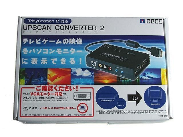 日本 HORI PS2 / XBOX 主機 兩對應 VGA-BOX 螢幕轉接盒 ~ 免用外接變壓器 ~