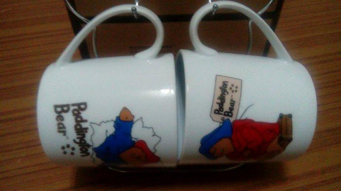 ~全新~Paddington Bear柏靈頓寶寶熊馬克杯(約220cc)組+米老鼠造型掛架(約13x14cm)乙式