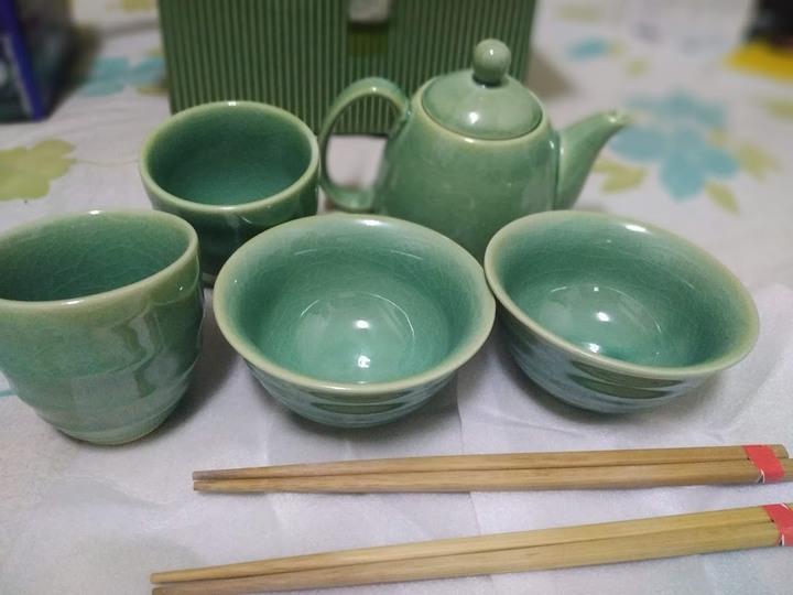 全新晶釉茶具碗組