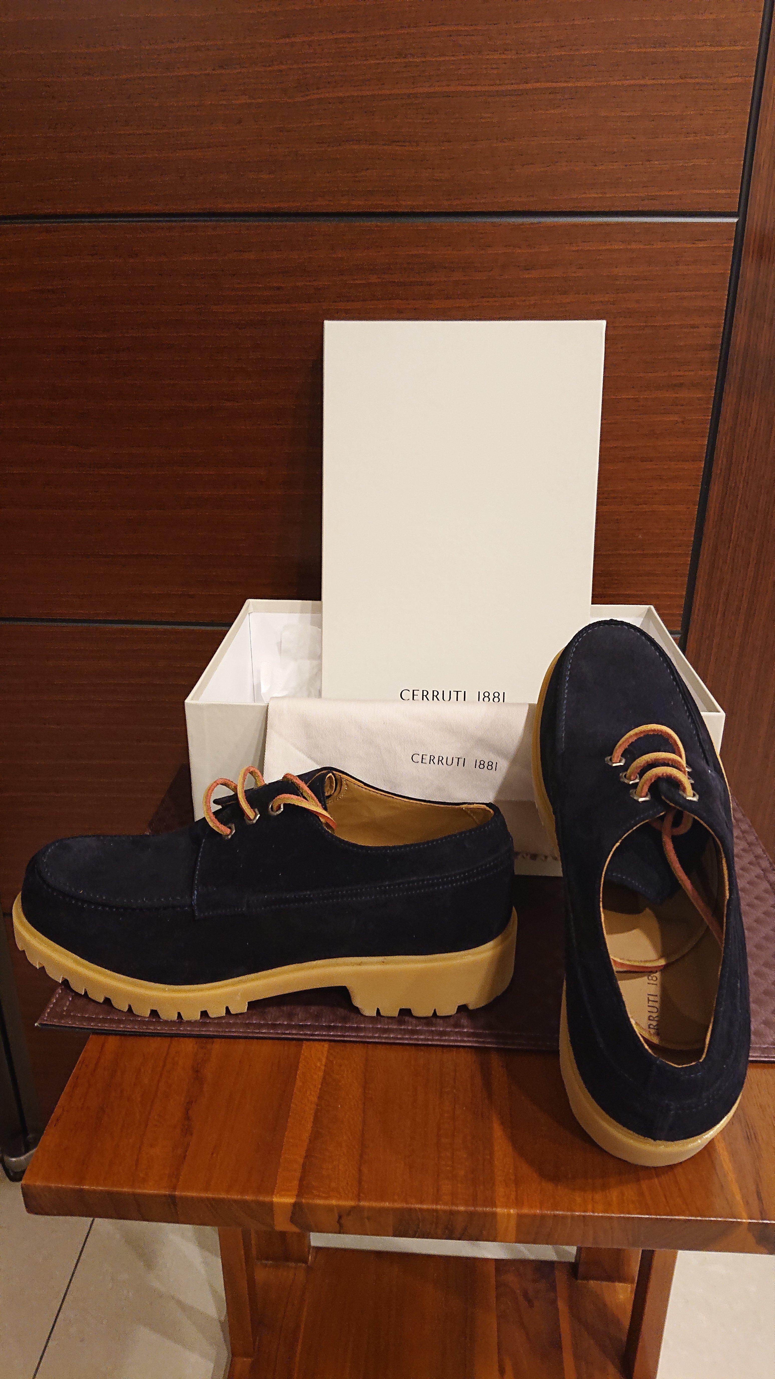 CERRUTI 1881 海軍藍 麂皮休閒鞋 SIZE 43