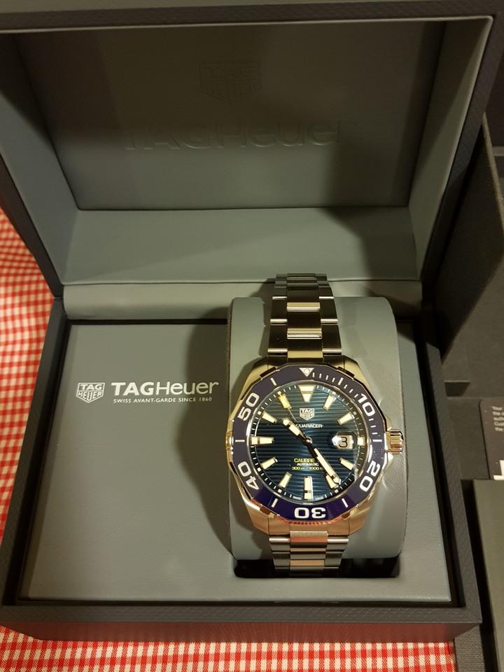 TAG HEUER 豪雅 AQUARACER 經典機械錶-藍/43mm 現貨