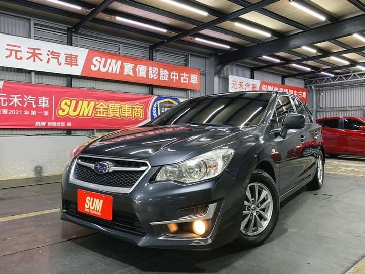 正2015年出廠 小改款Subaru Impreza 1.6 i-L 水泥灰!超夯四輪驅動日系五門掀背車 加裝十吋安卓機 上網藍芽導航Youtube全部齊全