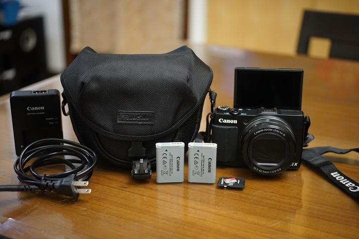 【售】CANON G1X Mark II類單公司貨美機可翻轉螢幕+原廠電池+32G記憶卡g9x g5x rx100