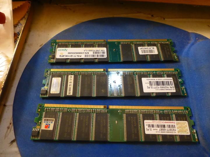 1G DDR1 三條