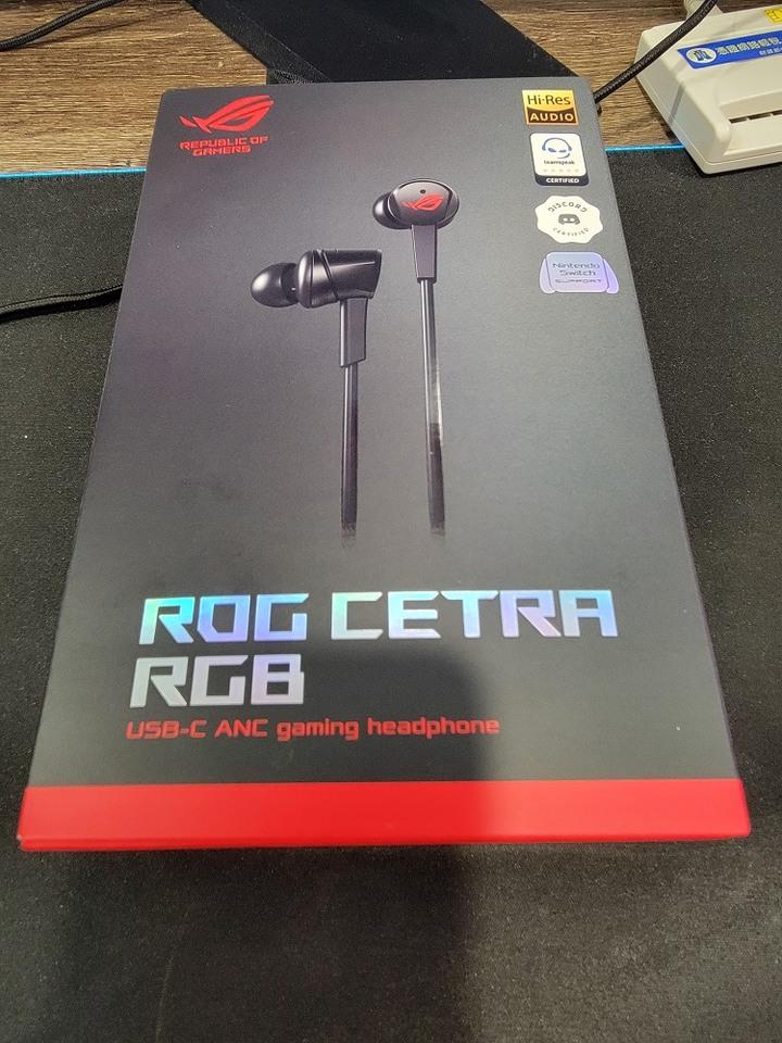 華碩ROG Cetra RGB 入耳式電競耳機 拆封新品