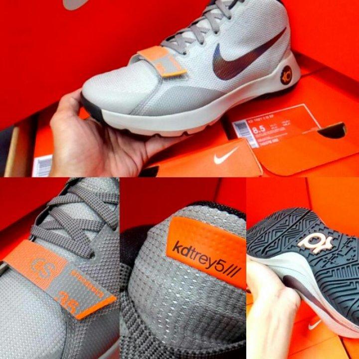 NIKE KD TREY 5 III EP灰色 網布 編織 超耐磨 杜蘭特 籃球鞋