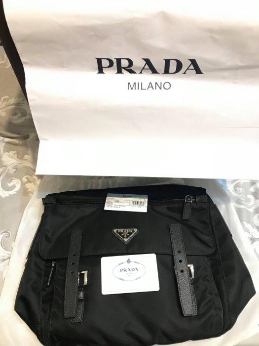 (全新)prada側背包意大利THE MALL購買1BD671 中性側背包相機包 郵差包