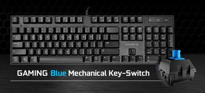 技嘉 FORCE K81 青軸 電競專用、機械軸鍵盤