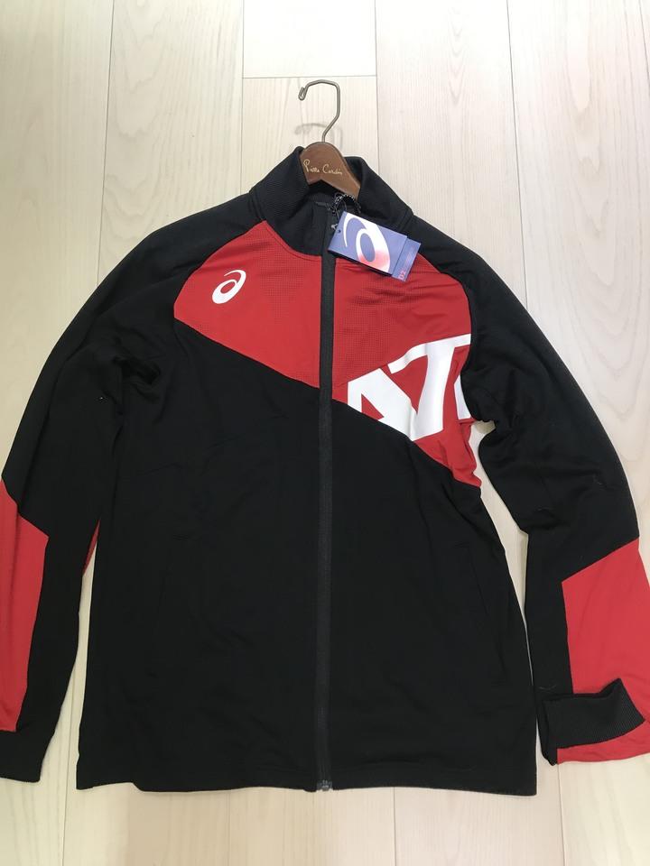 全新 ASICS 男針織運動外套