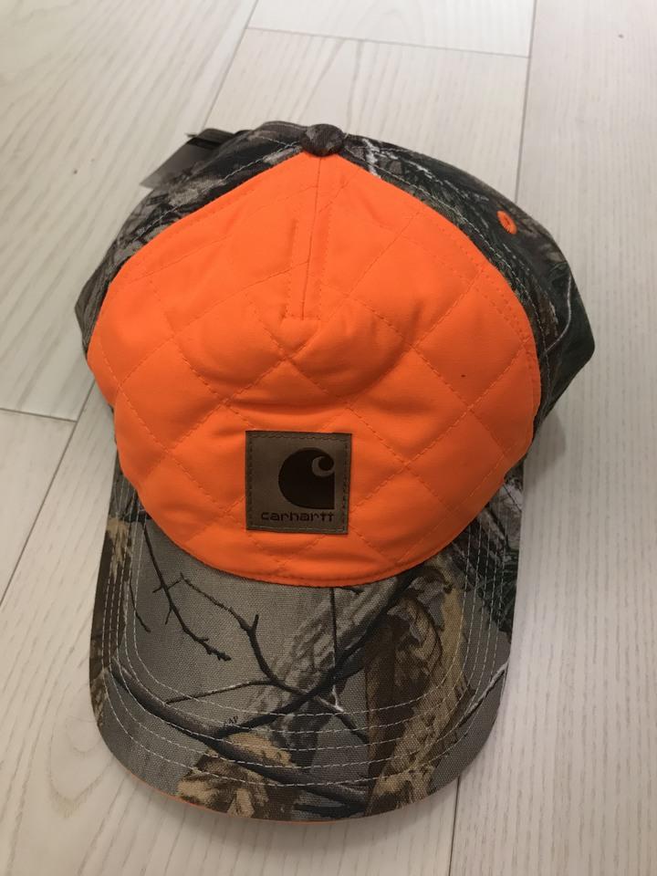 全新正品 CARHARTT 森林打獵迷彩橘色棒球帽