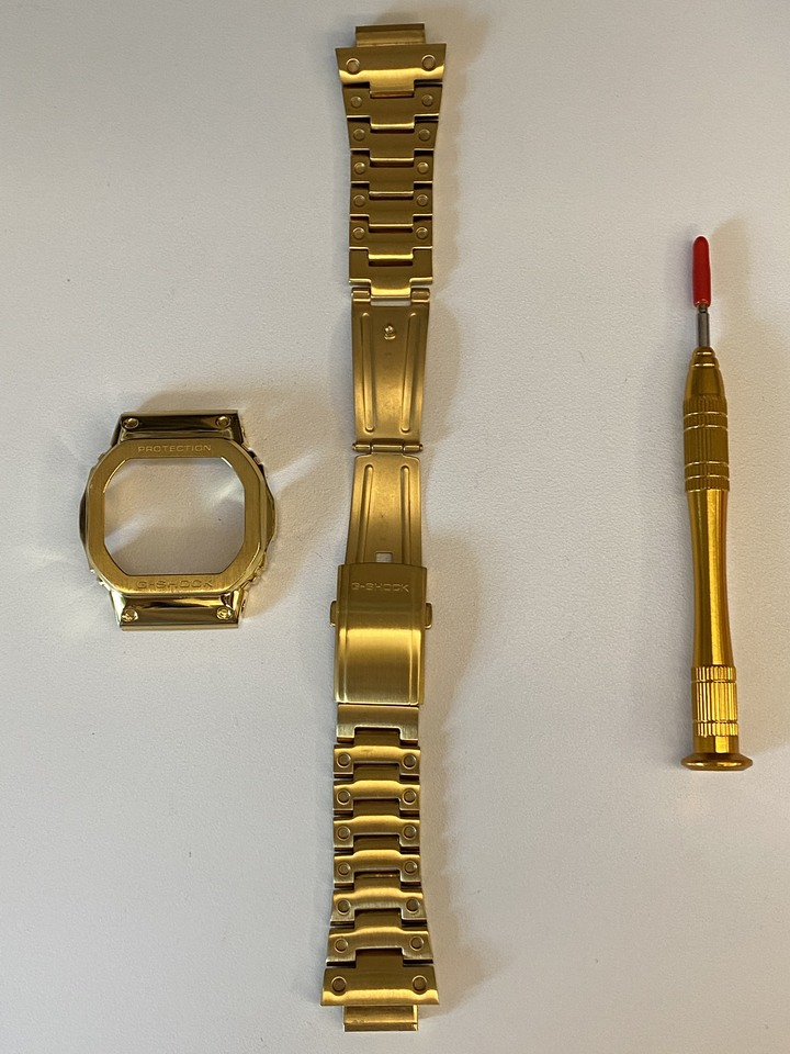 DW5600金屬錶帶+錶殼(9.5新.送工具)