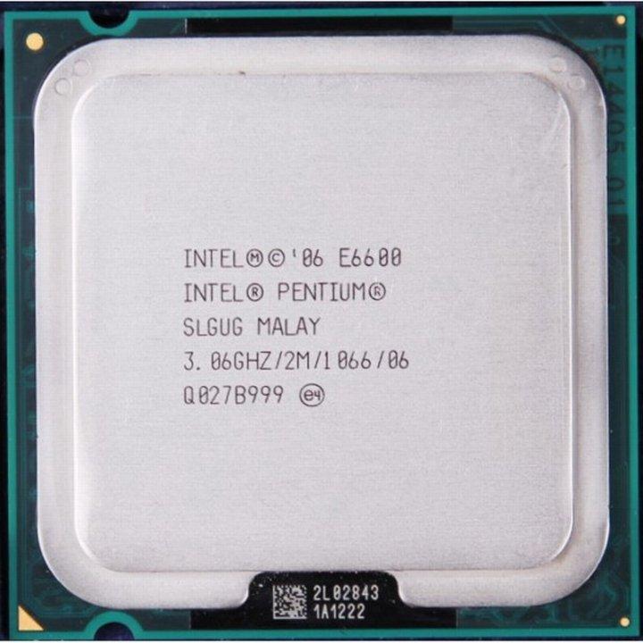 Intel Pentium E6600 雙核心 775腳位 處理器、 2M快取、3.06G、1066MHz