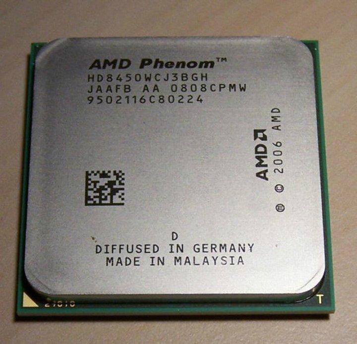 AMD Phenom X3 8450  三核三線 AM2+ / 2.1G / L3 - 2 MB 處理器、散裝、拆機良品
