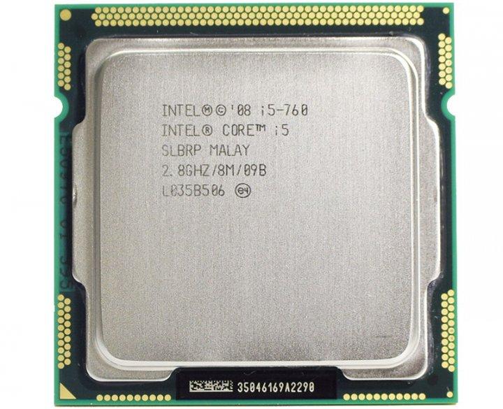 Intel  i5-760 / 2.8GHz / 8M / 1156腳位 正四核心中央處理器、附原廠風扇、庫存備用良品