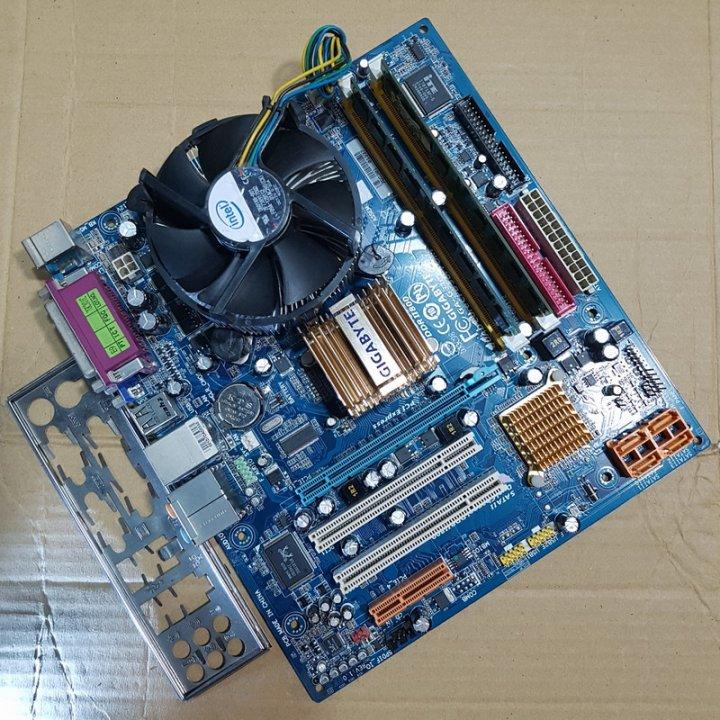 技嘉 GA-G31MX-S2 主機板+Intel Q8200四核心CPU+KingMax 4G記憶體、整套附風扇與擋板