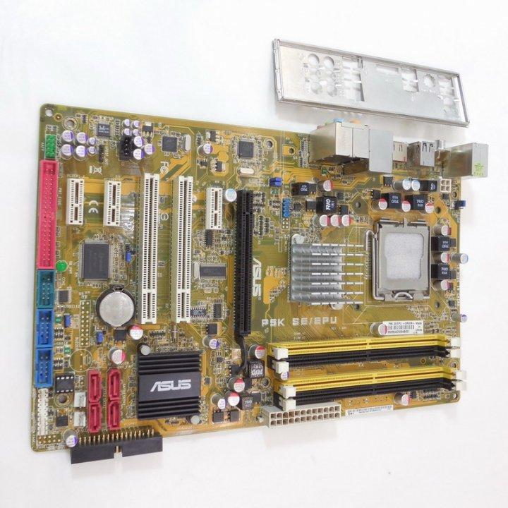 華碩 P5K SE/EPU 全固態電容 775腳 主機板、記憶體支援DDR2(最大支援至8GB)、燒機測試良品有附擋板