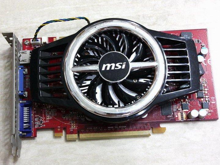 MSI 微星 N9800GT-MD1G顯示卡、GT9800晶片、1GB、256Bit、拆機測試二手良品