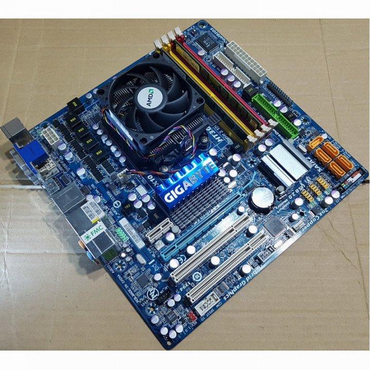 技嘉GA-MA785GPM-UD2H主機板+Athlon II X2 255處理器+創建4GB終保記憶體整組含風扇與擋板