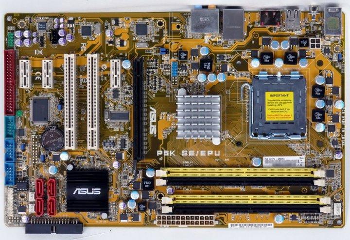 華碩 P5K SE/EPU  775 全固態電容主機板、DDR2記憶體、SATA、PCI-E顯示介面【 良品、有後檔板】