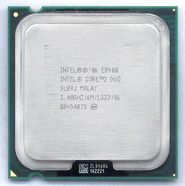 正式版 Intel Core 2 Duo  E8400  3.0G  775腳位  6M快取 雙核心 處理器 拆機良品