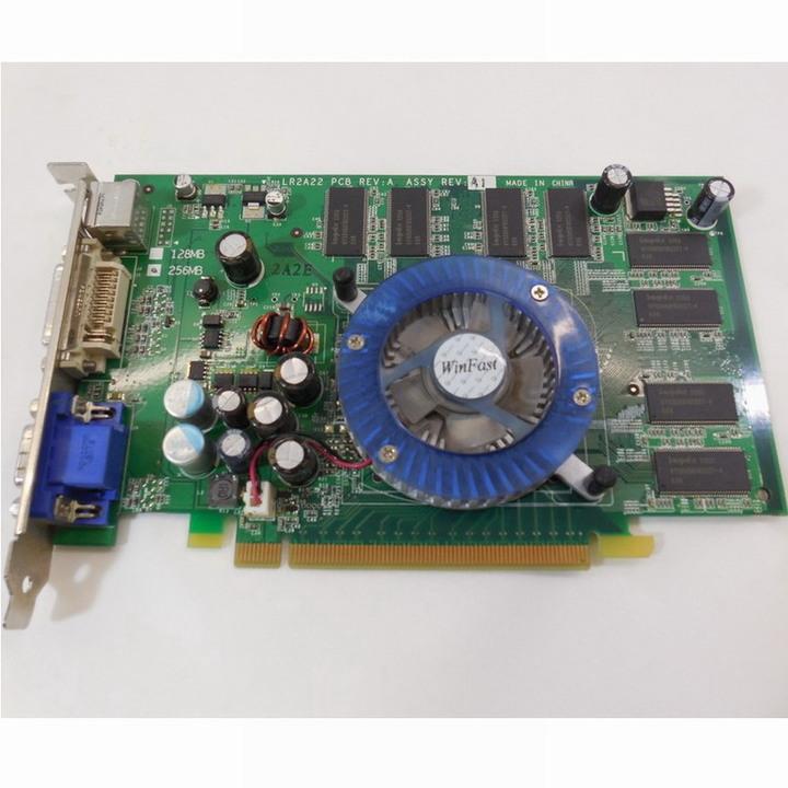 麗台 PX6600 LE 顯示卡【良品】256MB、128bit、PCI-E、DVI、D-SUB、TV-Out 輸出介面