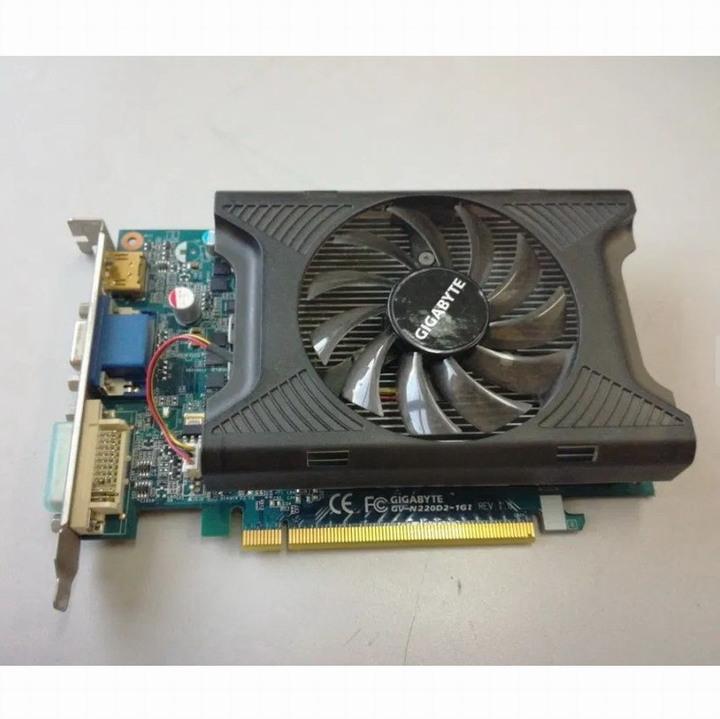 技嘉 GV-N220D2-1GI 128Bit、GeForce GT220繪圖晶片、二手良品