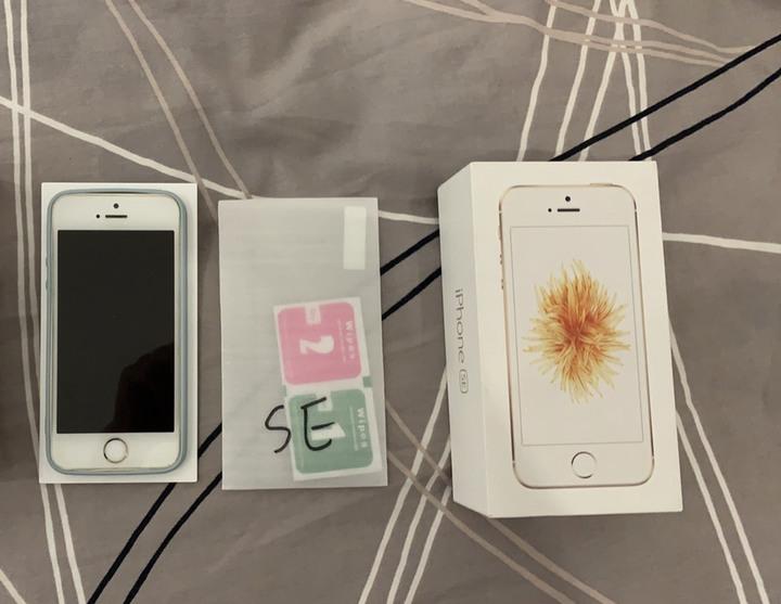 iPhone se 64G A1723 電池健康度100% 一代實體Home鍵 金色 台灣公司貨 新竹可面交