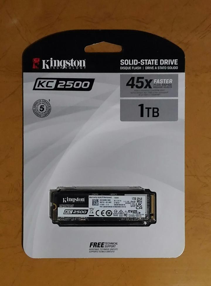 金士頓 KC2500 1TB M.2 PCIe SSD固態硬碟