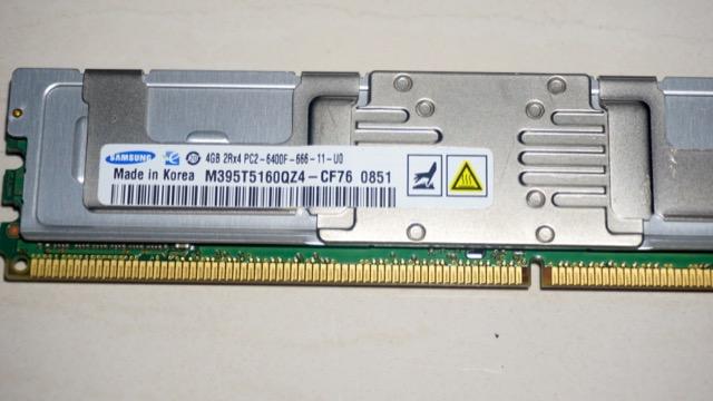 Samsung DDR2-800 4g ECC Registered DIMM 伺服器專用記億體