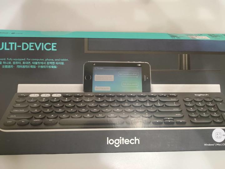 近全新 Logitech 羅技 K780 超薄跨平台藍牙鍵盤 或 Unifying接收器 黑
