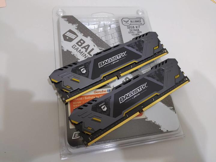 美光 Ballistix Sport gameing  DDR4 3000 32GB  2*16G 終身保固 超頻