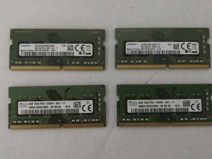 Samsung、Hynix DDR4 2400 、2666 8G 筆記型記憶體