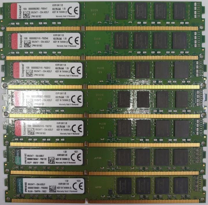 金士頓 DDR3 1600 8G 雙面