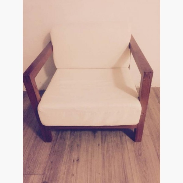 復刻板-類詩肯柚木單人沙發