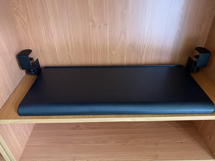 人體工學可調高度鍵盤架 70x31cm 黑色 KB-3010
