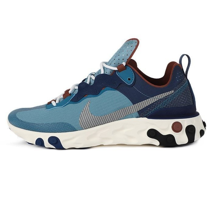 男鞋 Nike React Element 55 RM 緩震休閒鞋 藍銀反光彈性慢跑鞋 CU1466-400 台灣公司貨
