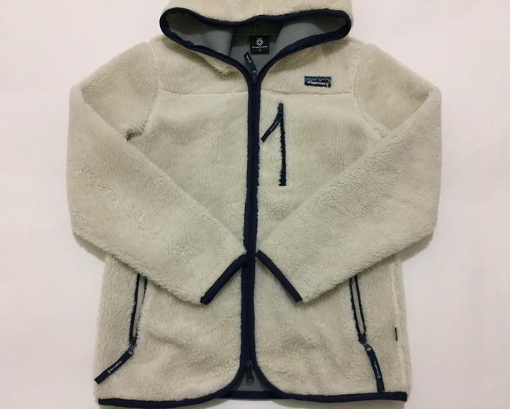 香港 fingercroxx 刷毛連帽外套 防寒保暖 復古著經典米色毛毛 polyester (二手正品)