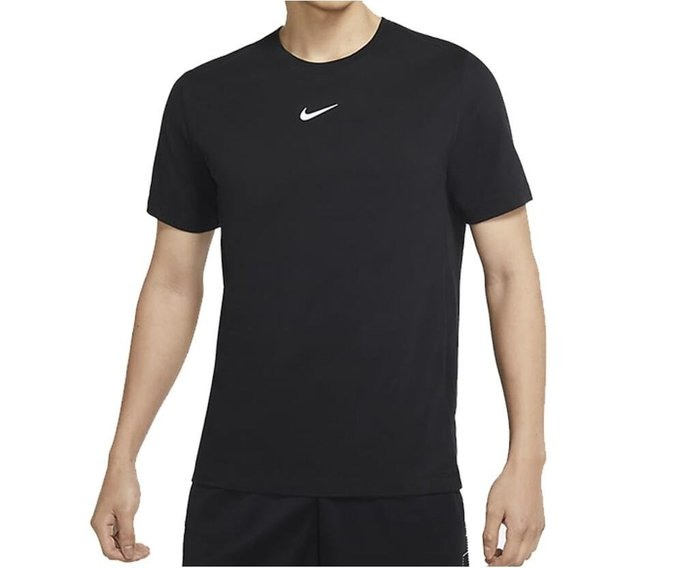 Nike 短袖T恤 黑色圓領T 透氣快乾短排汗衣 健身房慢跑 DM3121-010 公司貨 SWOOSH DRI-FIT