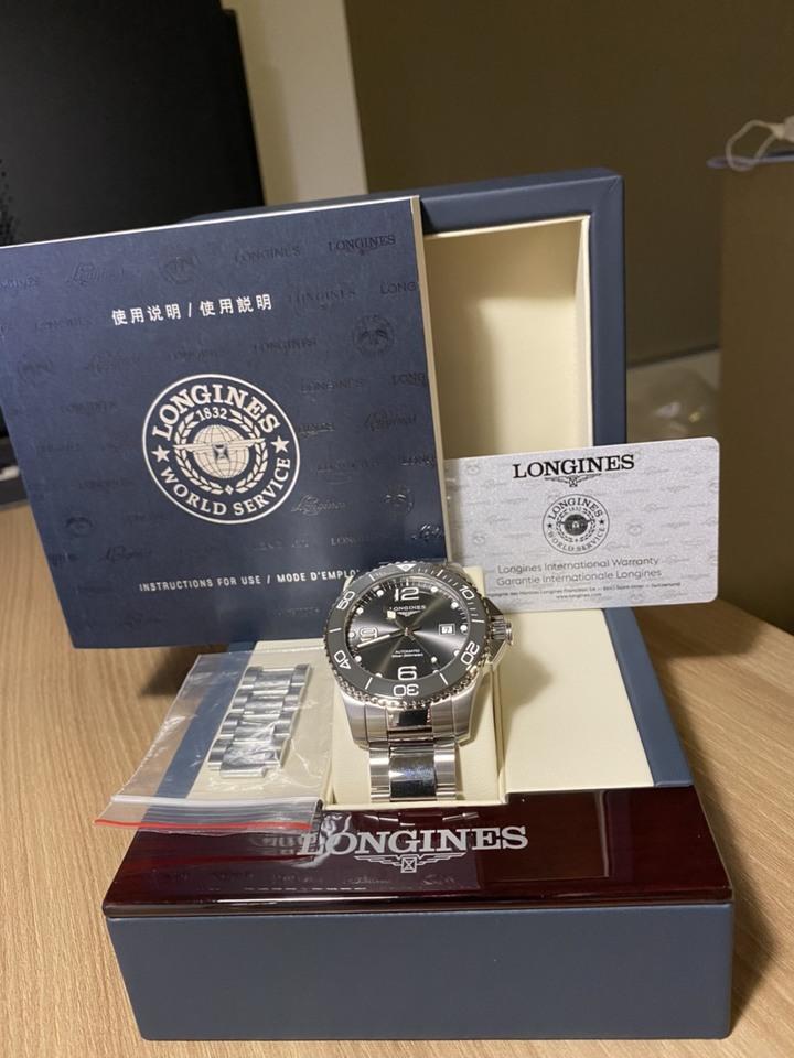 Longines浪琴 深海征服者 機械潛水錶 陶瓷圈 灰色43mm L3.782.4.76.6