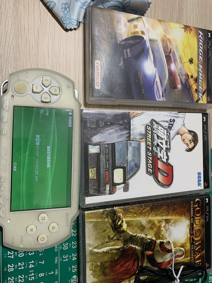 降價psp 1007含原版3塊遊戲片