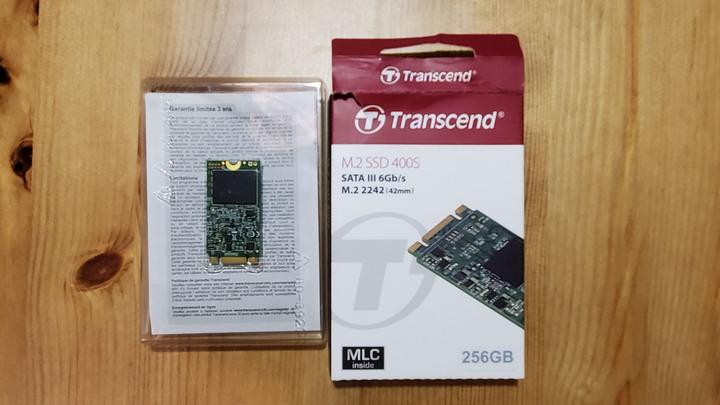 創見 M2 SSD 400s 2242 MLC 256G