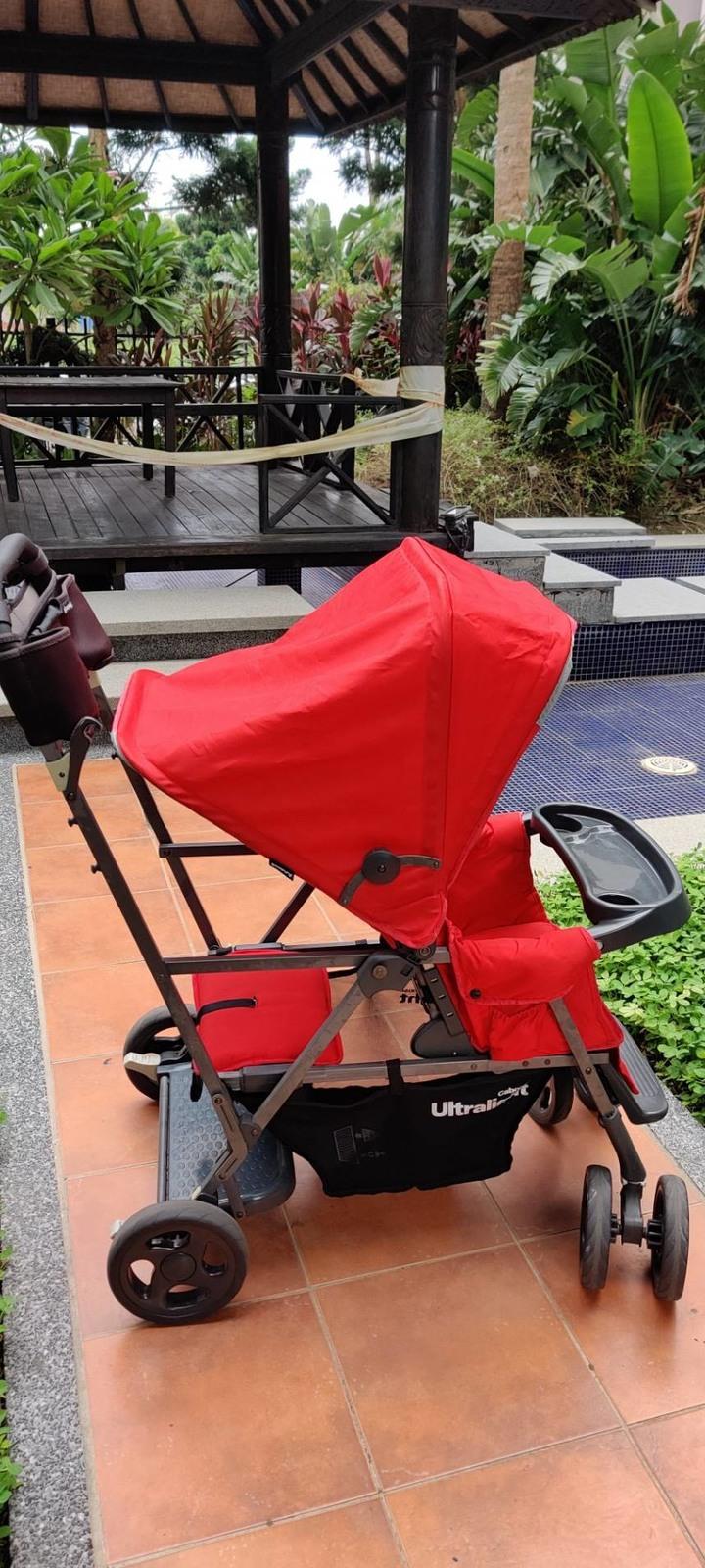 Joovy Caboose Ultralight Graphite 新款輕量級雙人推車