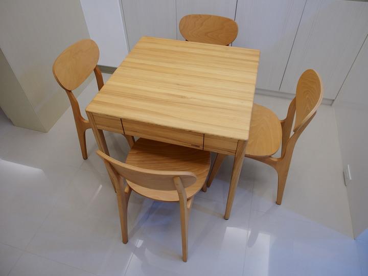 有情門 不語方桌 自然木色 二手