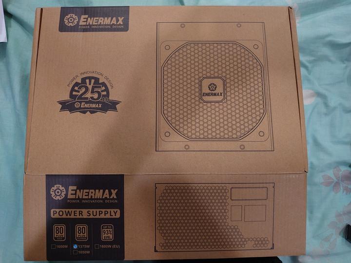 (二手商品)ENERMAX 安耐美 保銳 25周年紀念款 80 PLUS 白金1375W 保固內