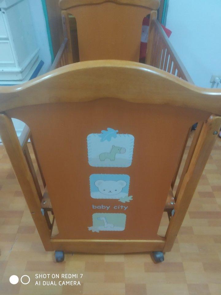 Baby City 娃娃城-動物熊日式搖擺中大床嬰兒床