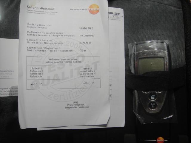 德國 testo 925 單通道溫度計與先進儀器彈片式 L 型表面溫度測棒
