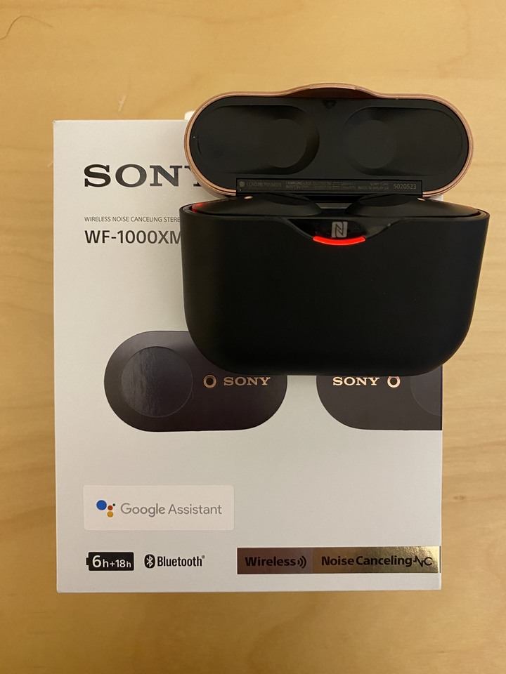 SONY WF-1000XM3 真無線藍芽耳機(黑色)
